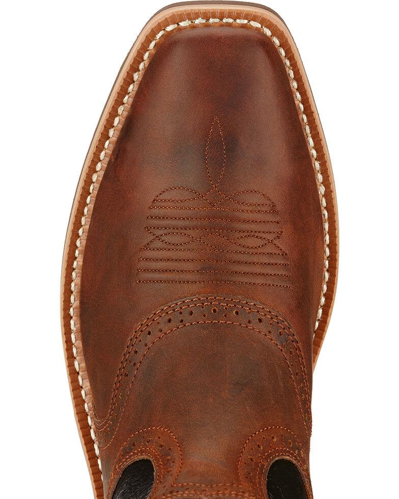 Ariat Men's Heritage Rough Stock Western Boots, Mahogany, hi-res