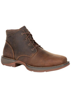 Durango Men's Dirt Rebel Chukka Boots - Square Toe, Medium Brown, hi-res