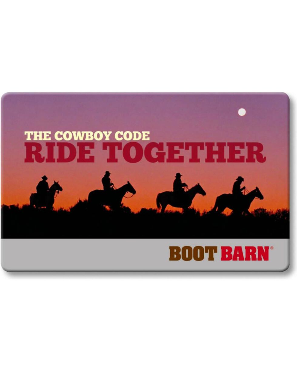 Boot Barn® The Cowboy Code Gift Card, No Color, hi-res