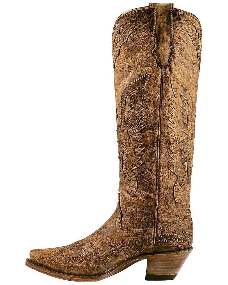 Corral Women's Vintage Eagle Overlay Tall Western Boots, , hi-res