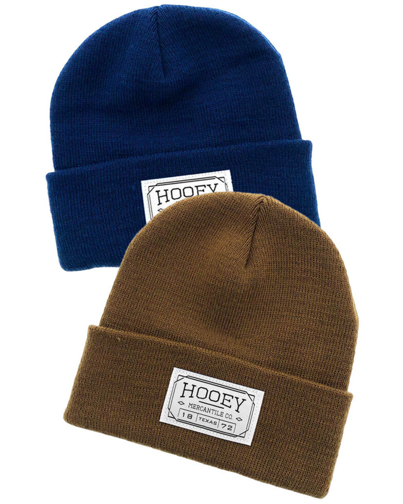 HOOey 2 Piece Patch Work Beanie Pack , Multi, hi-res