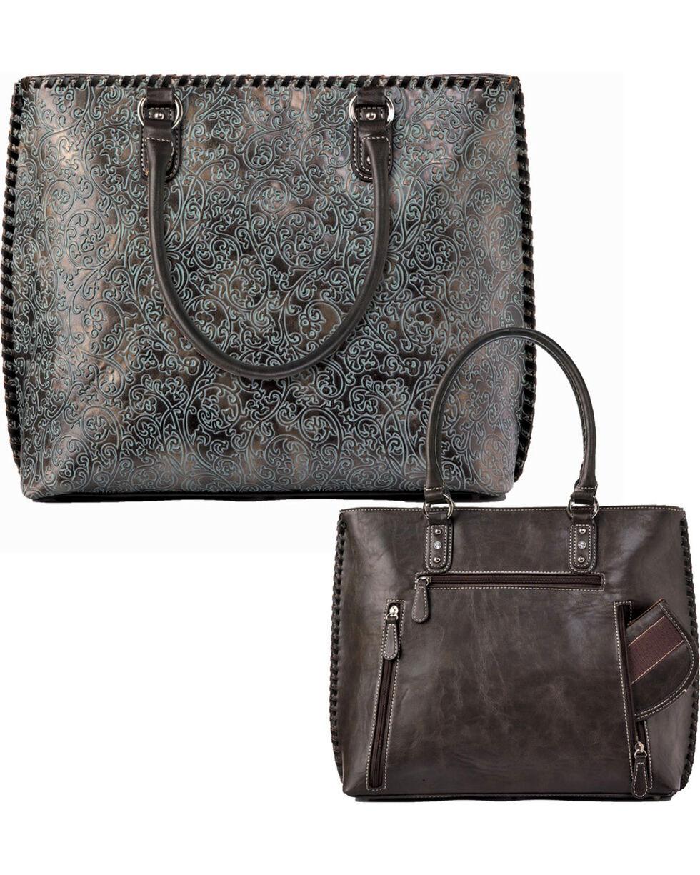 Blazin Roxx Women's Katelyn Concealed Carry Tote Bag, Green, hi-res