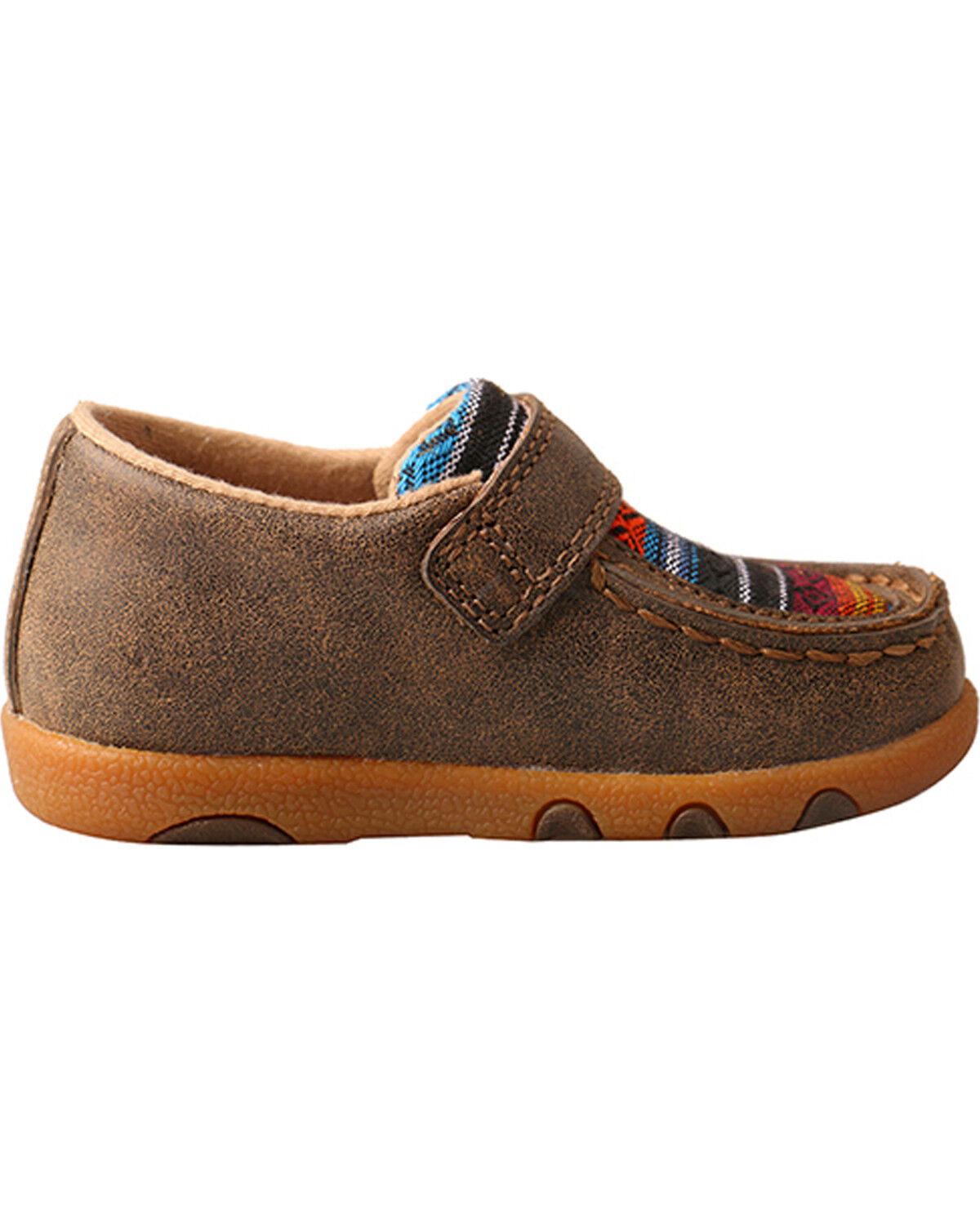 Twisted X Kids Girls Tan//Multi-color Leather Serape Casual Boots