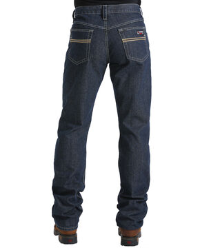 Cinch Men's Flame Resistant Jeans, Dark Blue, hi-res