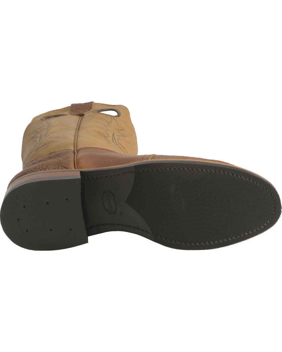 """Boulet Men's 12"""" Saddle Vamp Super Roper Boots, Bay Apache, hi-res"""
