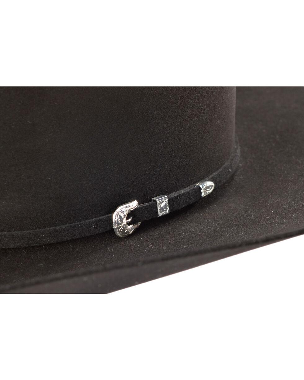 Rodeo King Men's 100X Black Felt Cowboy Hat, , hi-res