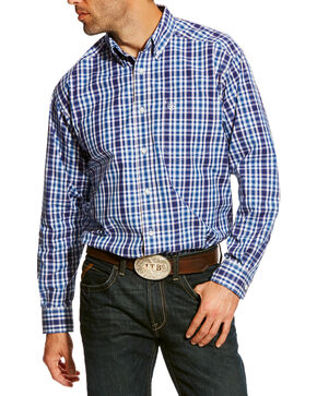 Ariat Men's Blue Abrahms Plaid Shirt , Blue, hi-res