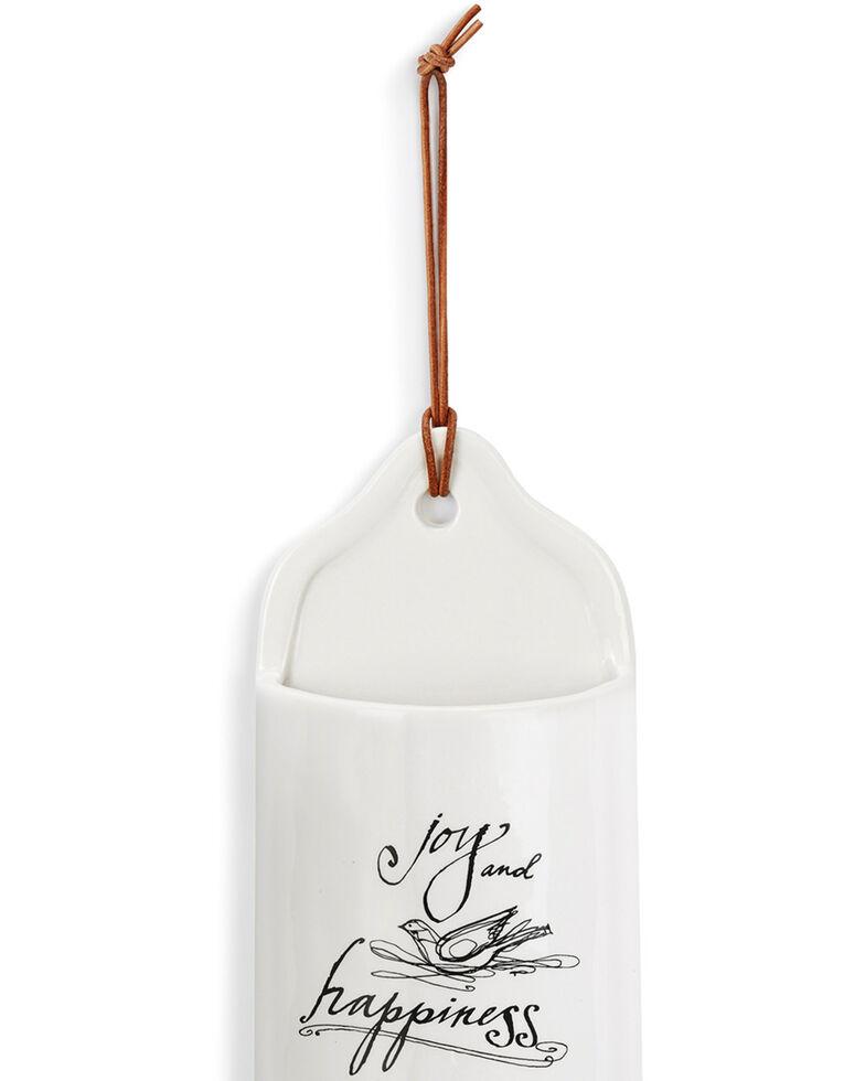 Demdaco Ceramic Joy and Happiness Crock, White, hi-res