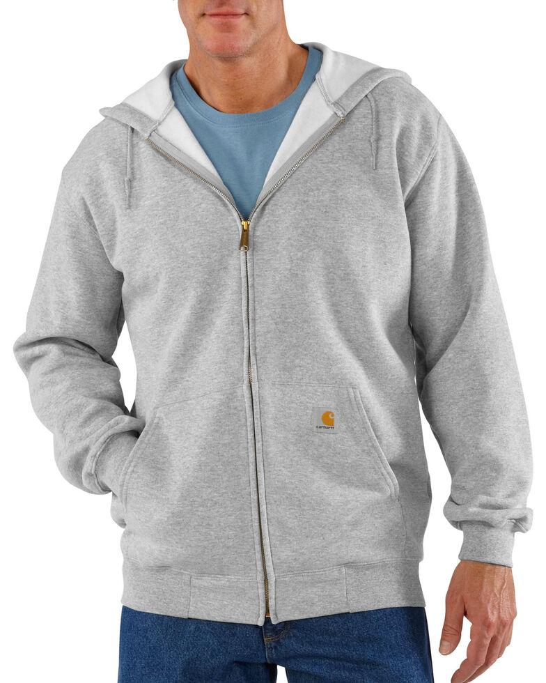 Carhartt Zip Front Work Hoodie, Grey, hi-res