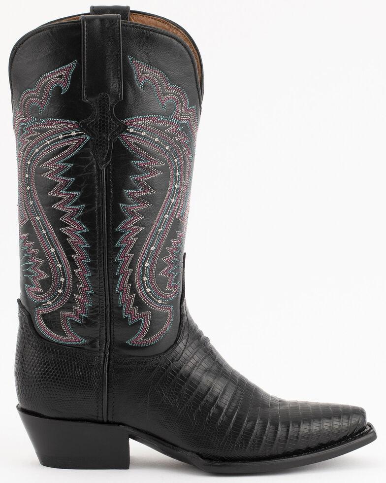 Ferrini Black Lizard Cowgirl Boots - Snip Toe, Black, hi-res