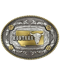Cody James® Oval Dual-Tone Montana Buckle, Multi, hi-res