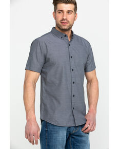 Levis Men's Delmore Solid Short Sleeve Western Shirt , Black, hi-res