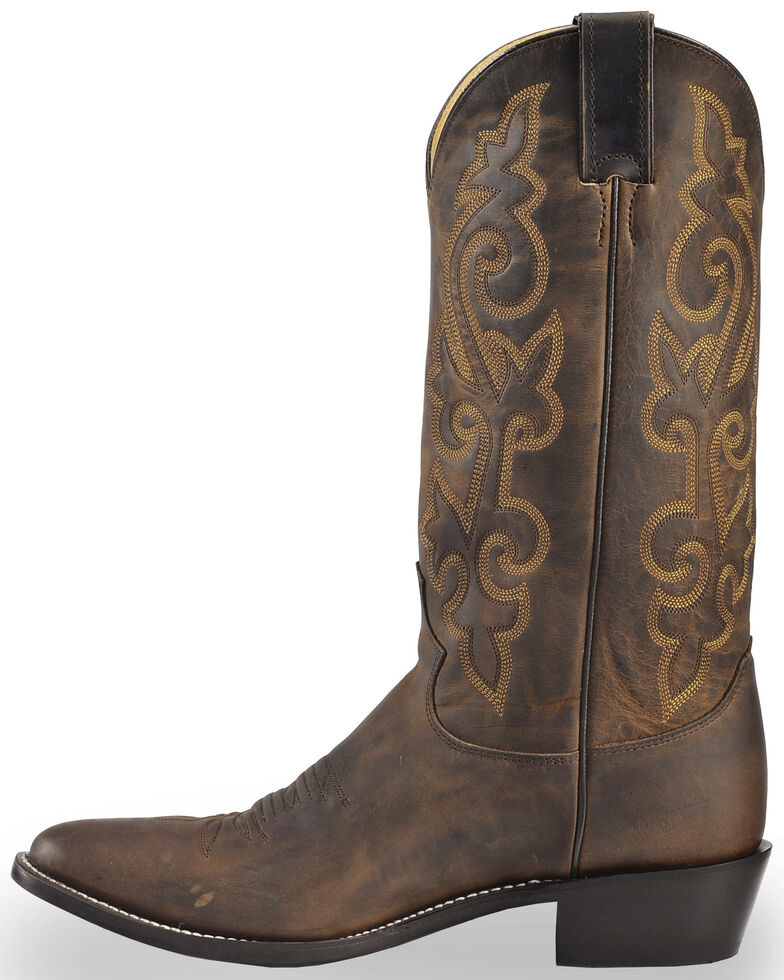 1d3d97b06ee Justin Men's Bay Apache Leather Cowboy Boots - Medium Toe