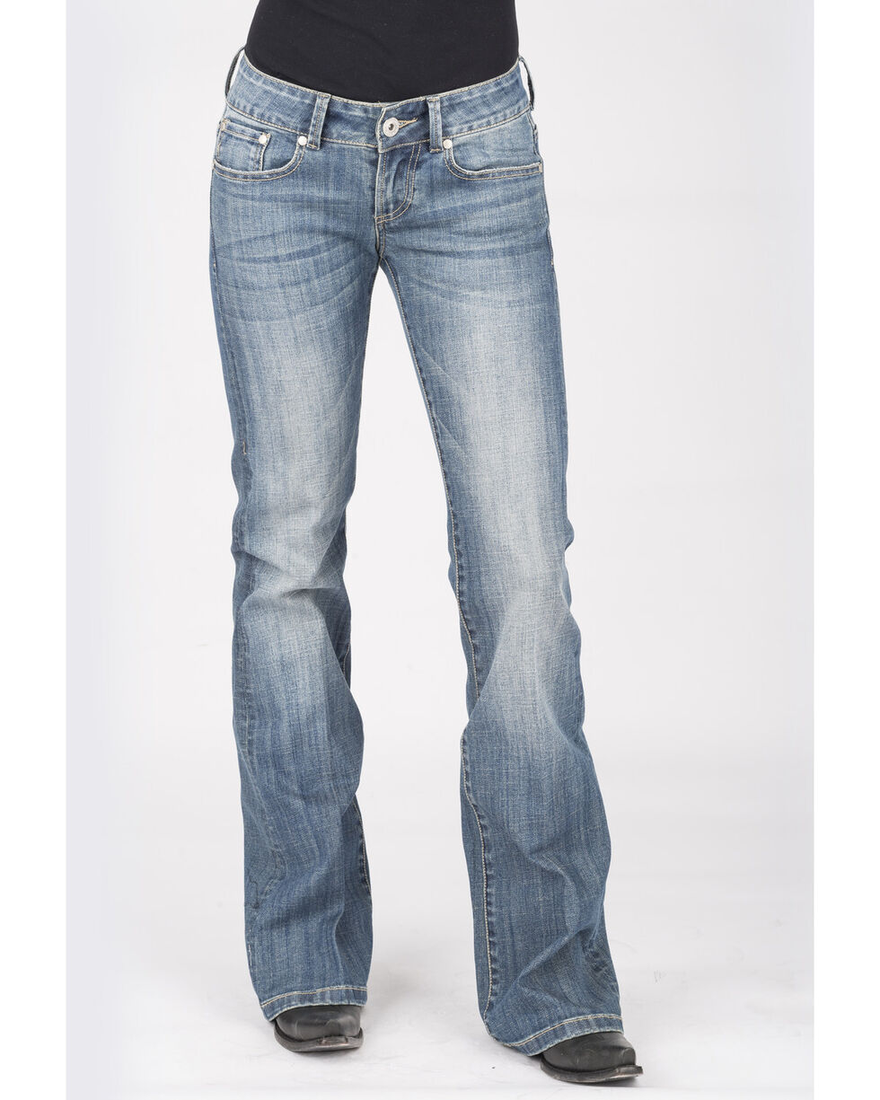 Stetson Women's 818 Aztec Embroidered Bootcut Jeans, Blue, hi-res