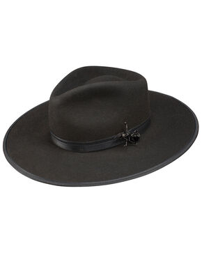 Stetson Women's Queenie Brooch Hat, Black, hi-res