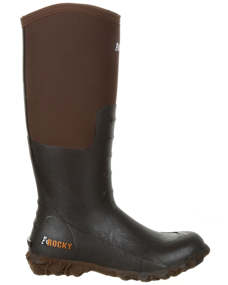 Rocky Women's Core Chore Rubber Outdoor Boots - Round Toe, Dark Brown, hi-res