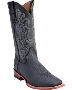 Ferrini Men's Maverick Western Boots - Square Toe , Black, hi-res