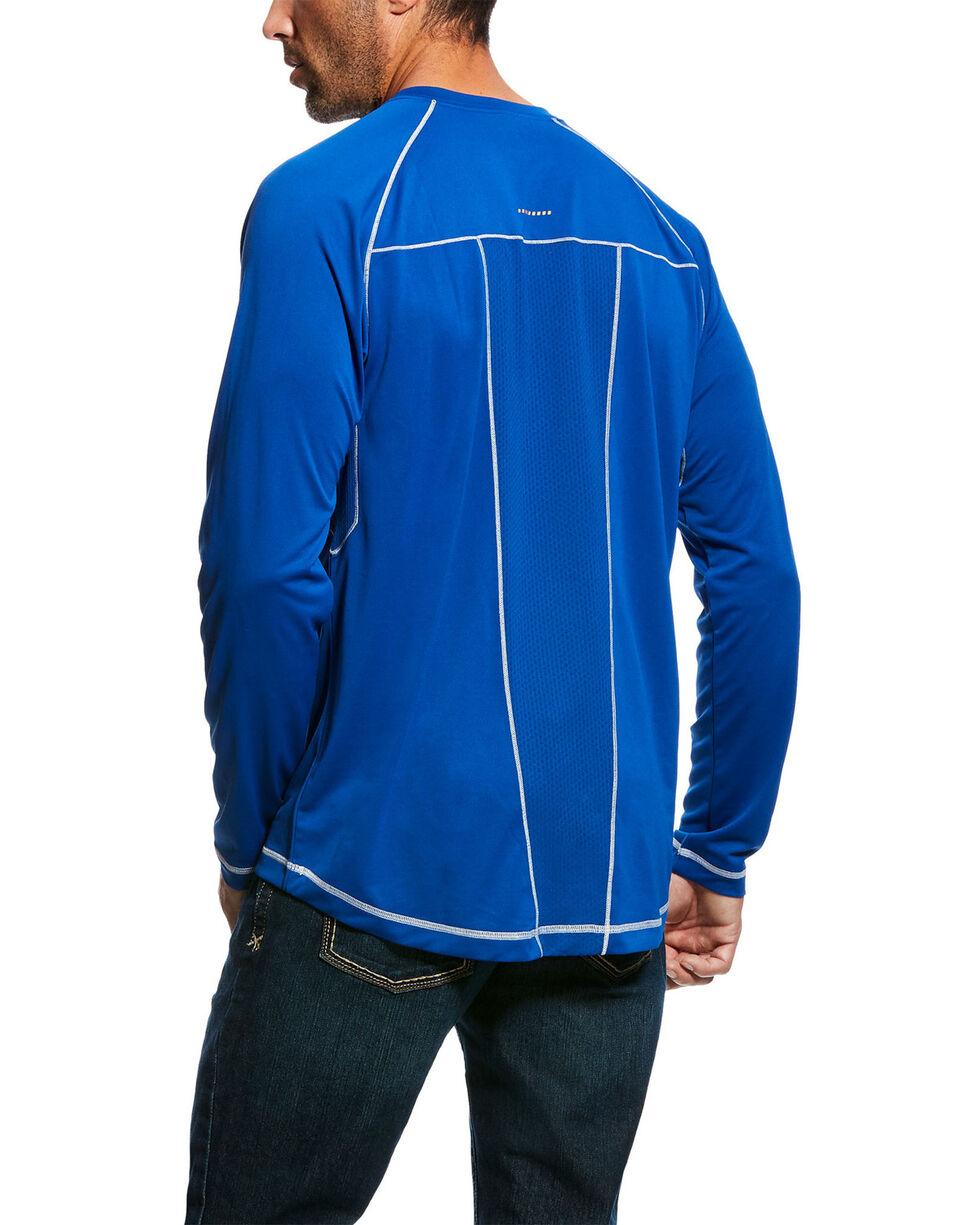 Ariat Men's Royal Rebar Sunstopper Long Sleeve Work Shirt - Big & Tall , Royal Blue, hi-res