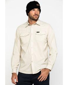 Wrangler All-Terrain Men's Khaki Utility Long Sleeve Western Shirt , Beige/khaki, hi-res