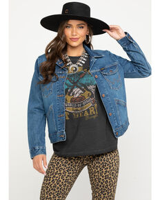 Wrangler Women's Modern Denim Jacket, Indigo, hi-res