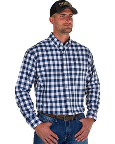 Noble Outfitters Men's Navy Generations Large Check Shirt , Navy, hi-res