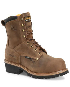 Carolina Men's Poplar Logger Work Boots - Composite Toe, Dark Brown, hi-res
