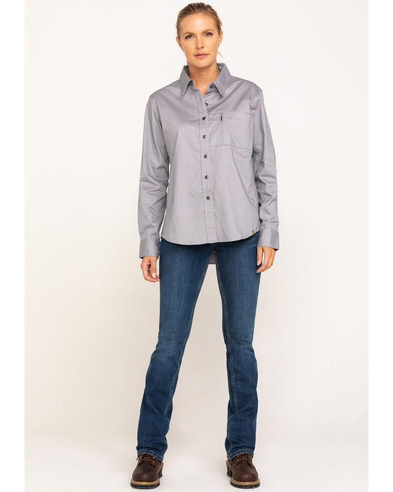 Wrangler Riggs Women's Alloy Grey Long Sleeve Work Shirt, , hi-res