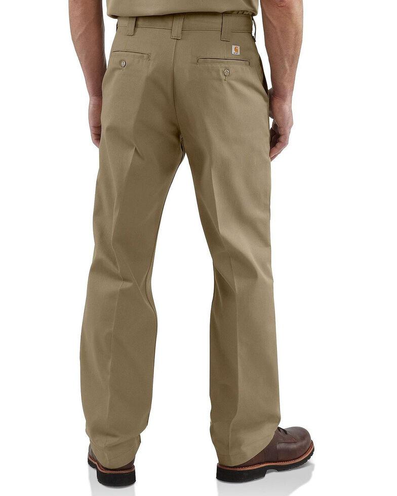Carhartt Men's Twill Work Pants, Beige/khaki, hi-res