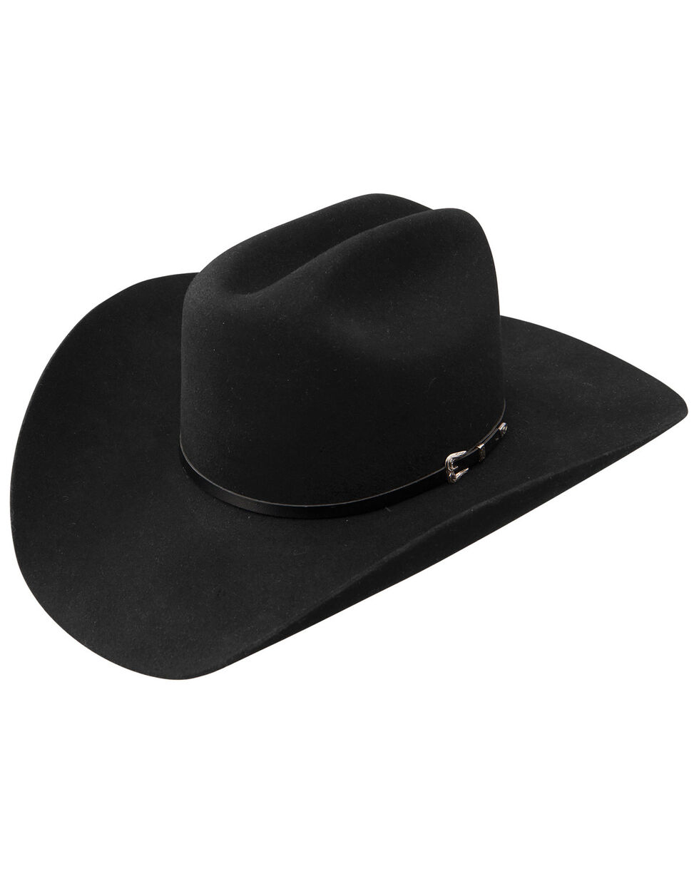 Resistol George Strait Sonora 4X Wool Felt Cowboy Hat, Black, hi-res