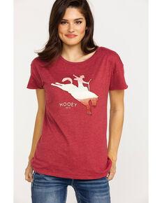 HOOey Women's Bronco Cowboy Graphic T-Shirt , Burgundy, hi-res