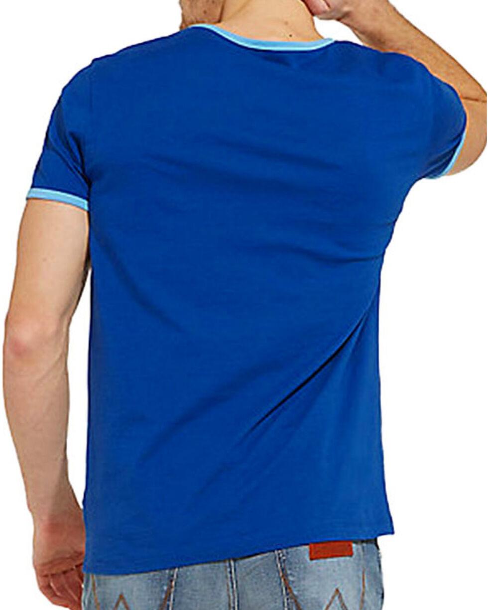 Wrangler Men's 70th Anniversary Kabel Logo Ringer Tee , Blue, hi-res