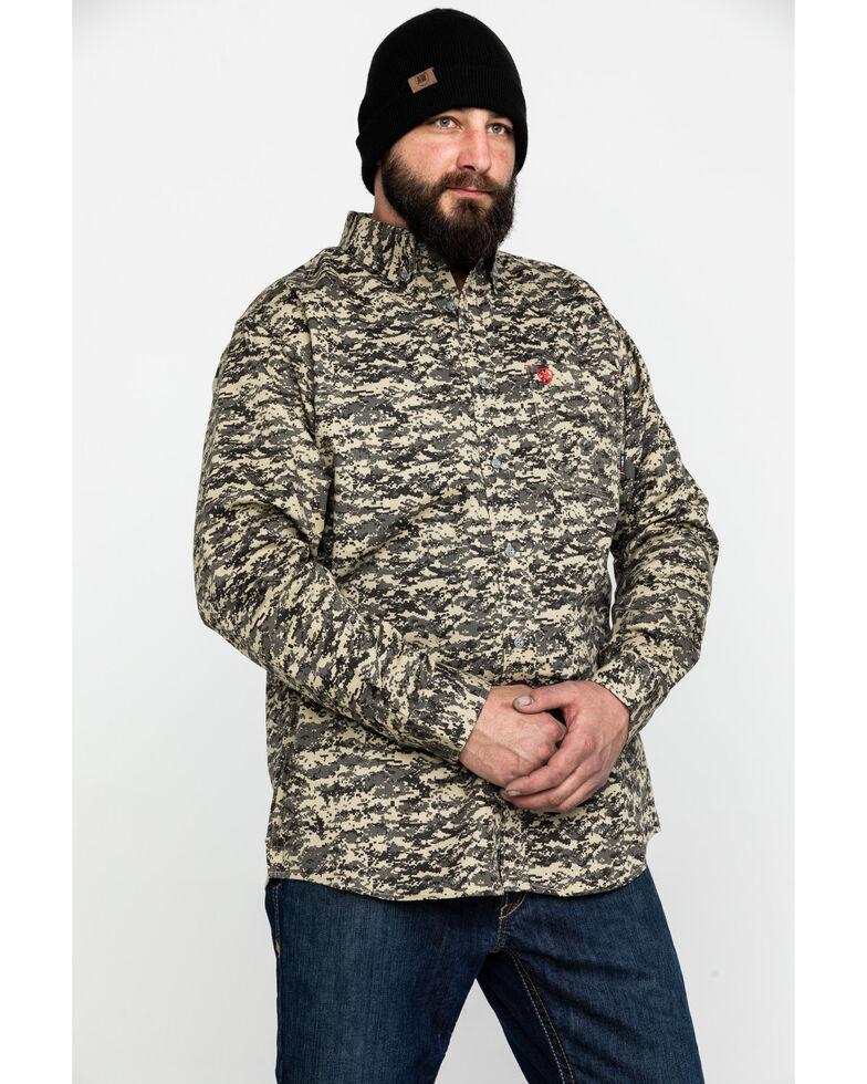 Ariat Men's FR Patriot Camo Long Sleeve Work Shirt , Camouflage, hi-res