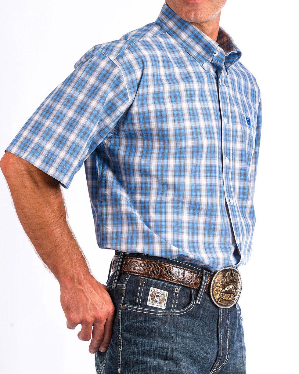 Cinch Men's Multi Plaid Short Sleeve Button Down Shirt, Multi, hi-res