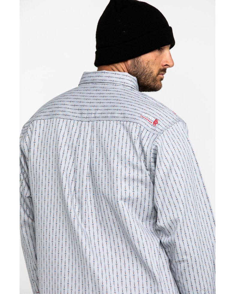 Ariat Men's FR Quartz Geo Print Long Sleeve Work Shirt - Big , Blue, hi-res