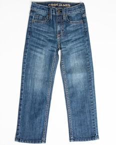 Cody James Boys' River Rock Light Stretch Slim Straight Jeans - Little , Blue, hi-res