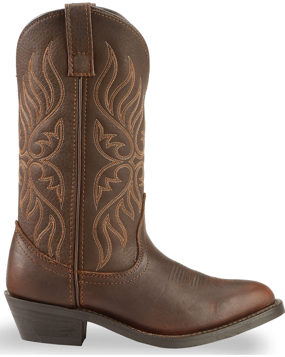 "Laredo Women's 11"" Round Toe Cowgirl Western Boots, Chocolate, hi-res"