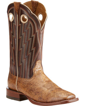 Ariat Men's Tan Fast Action Leather Cowboy Boots - Square Toe , Tan, hi-res