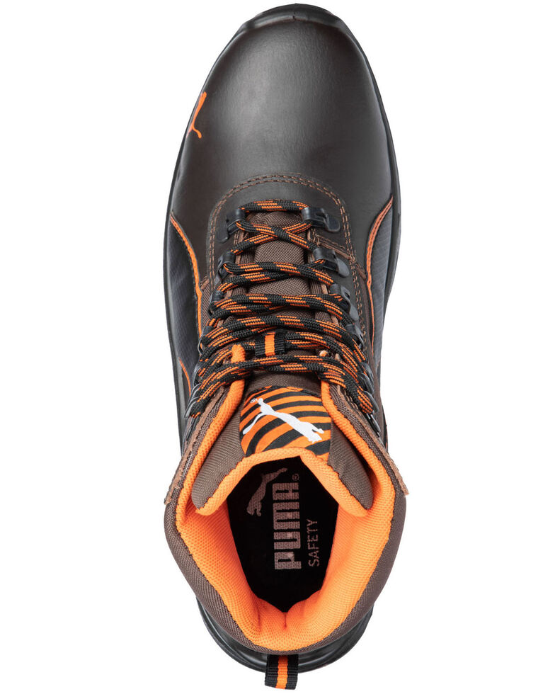 Puma Men's Atomic Work Boots - Steel Toe, Brown, hi-res