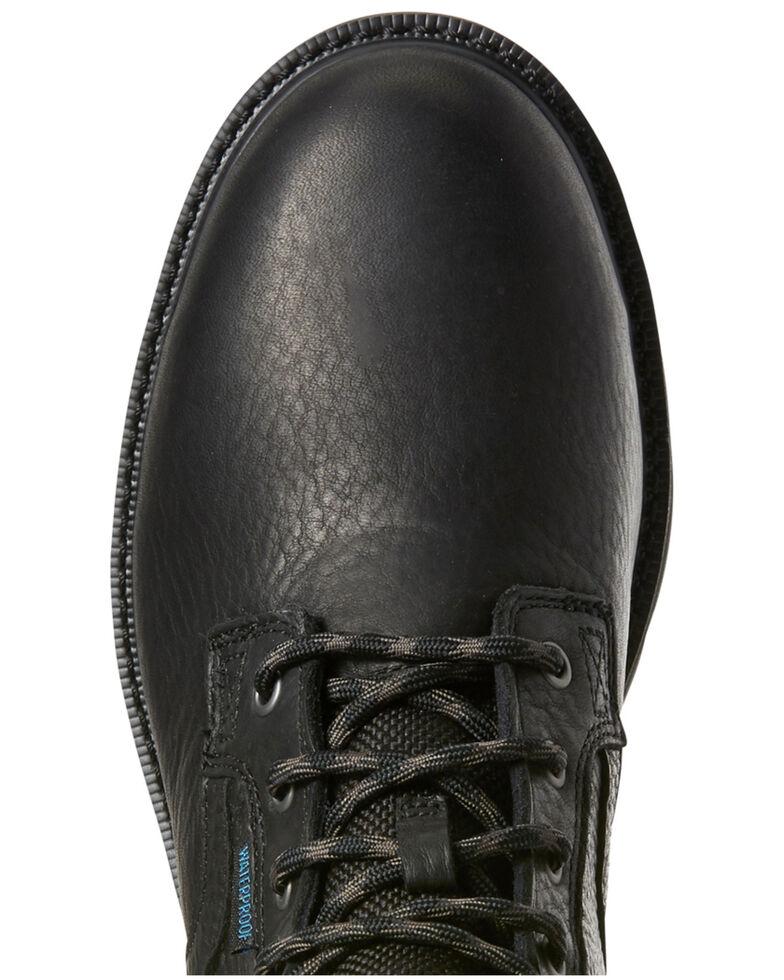Ariat Men S Black Groundbreaker Waterproof Work Boots