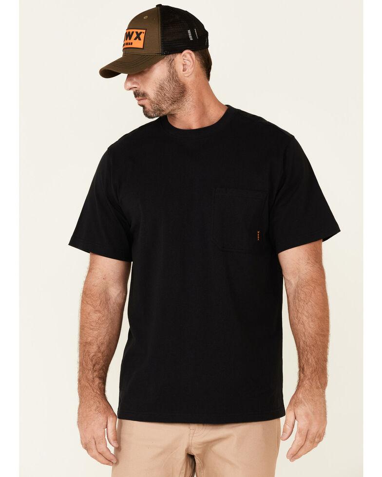 Hawx Men's Solid Black Forge Short Sleeve Work Pocket T-Shirt, Black, hi-res