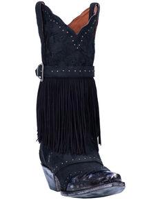 Dan Post Women's Bed Of Roses Western Boots - Snip Toe, Black, hi-res