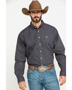 Cinch Men's Multi Floral Geo Print Long Sleeve Western Shirt , Multi, hi-res