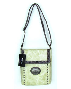 Savana Women's Fierce Conceal Carry Croco Trim Purse , Ivory, hi-res