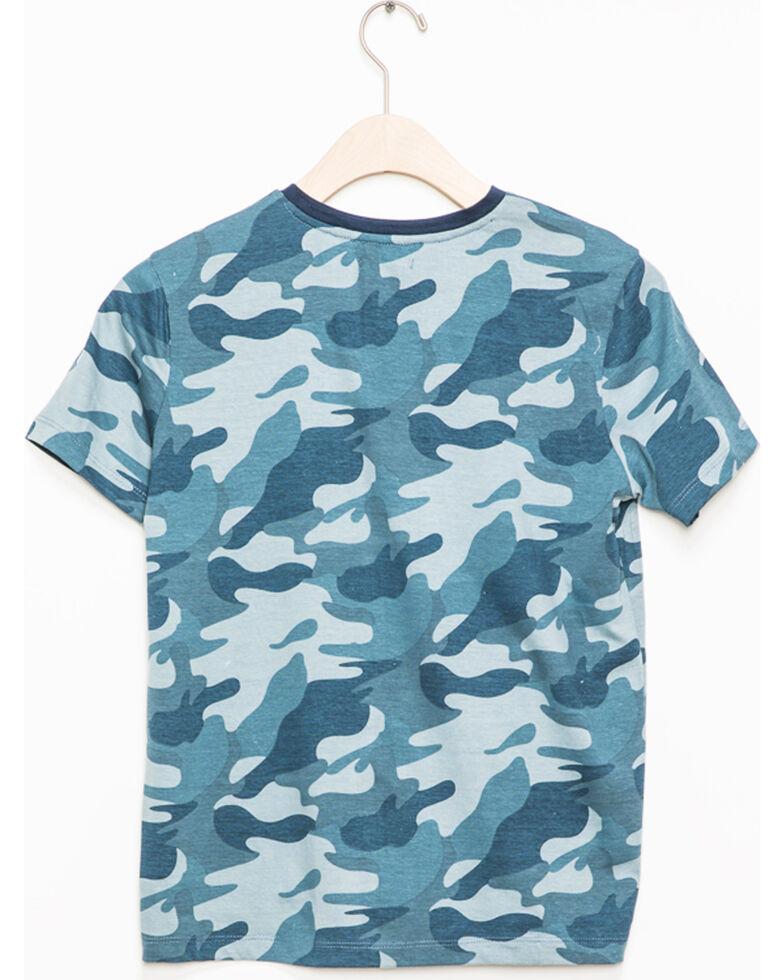 Silver Toddler Boys' Blue Camo Short Sleeve Henley Tee, Blue, hi-res