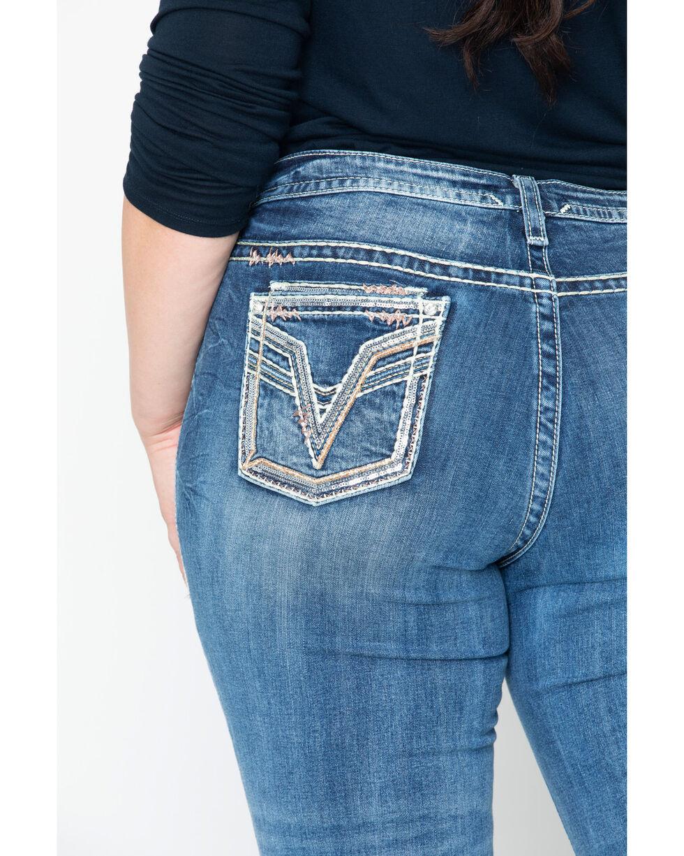 Vigoss Women's Bling Seguin Dublin Boot Jeans - Plus, Blue, hi-res