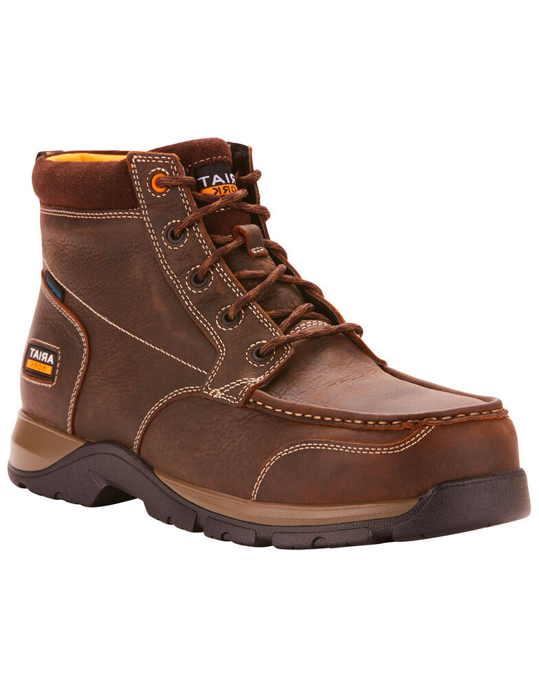 Ariat Men's Brown Waterproof Edge LTE Chukka Boots - Composite Toe , Dark Brown, hi-res