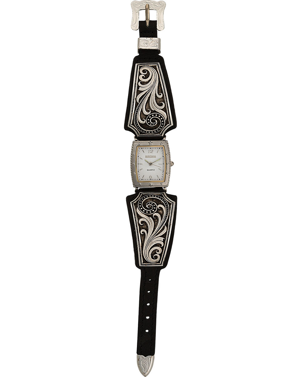 Montana Silversmiths Women's Western Lace Whisper Watch, Silver, hi-res