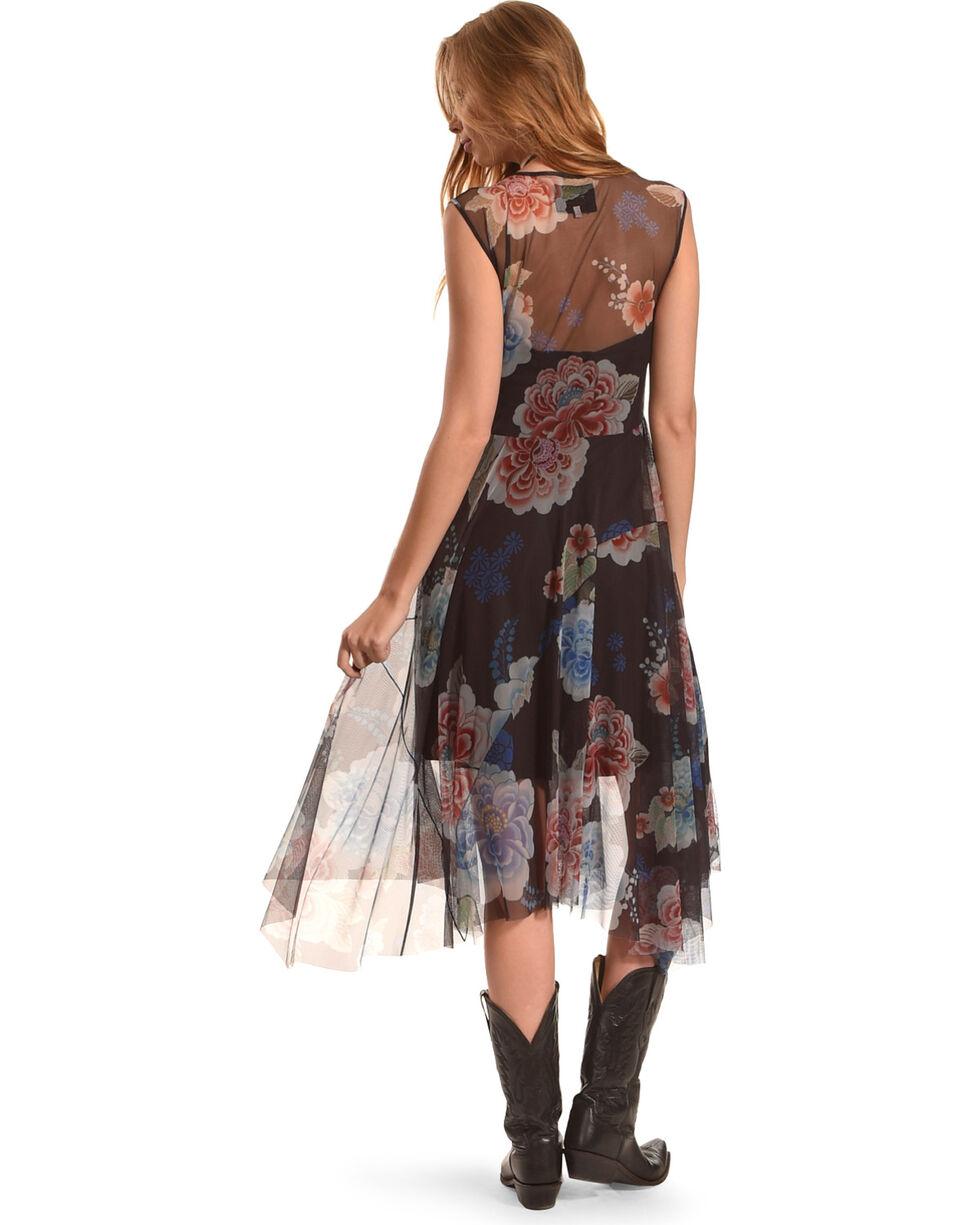 Johnny Was Women's Black Shemere Mesh Dress , Multi, hi-res