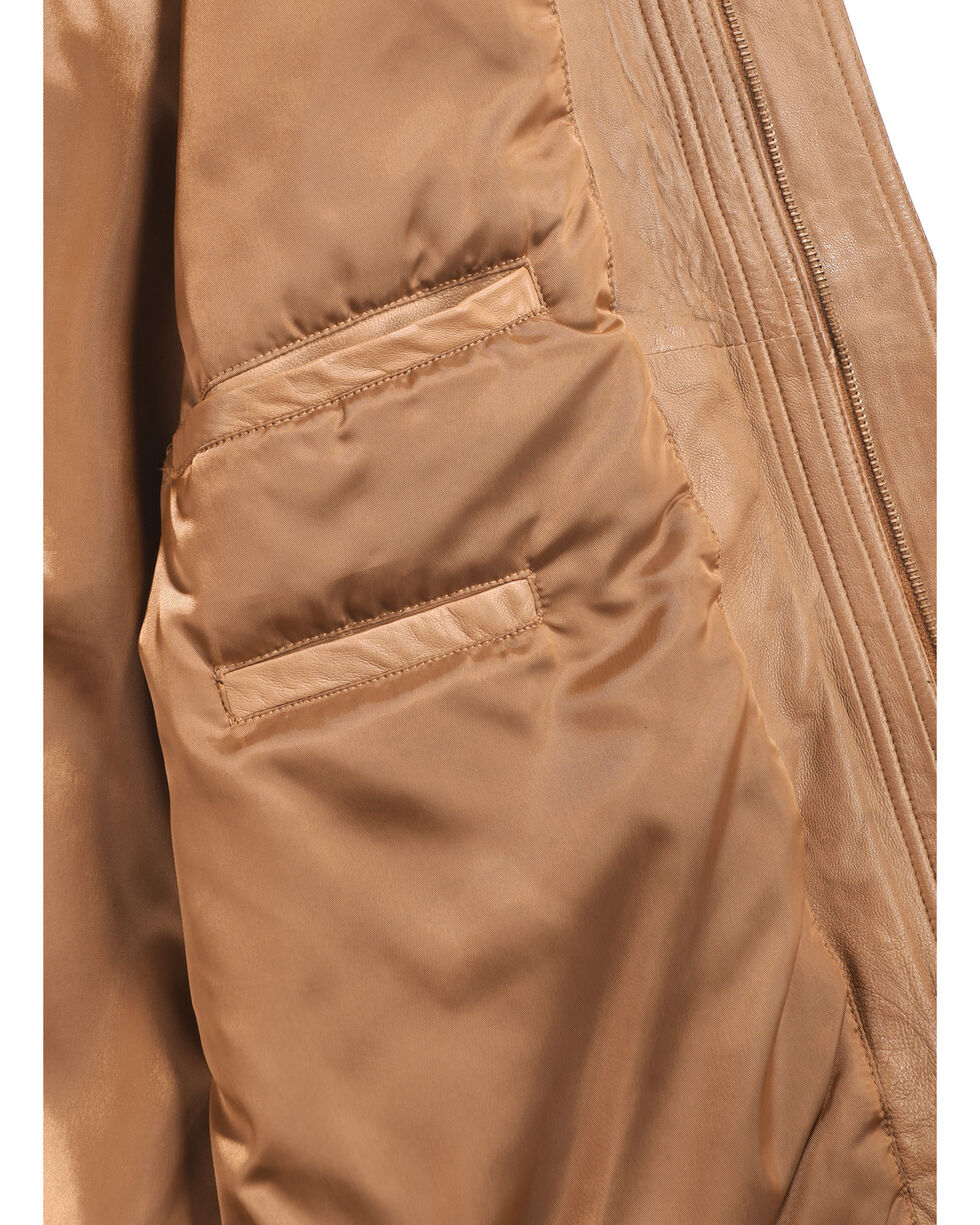 Scully Premium Lambskin Jacket - Tall, Cognac, hi-res