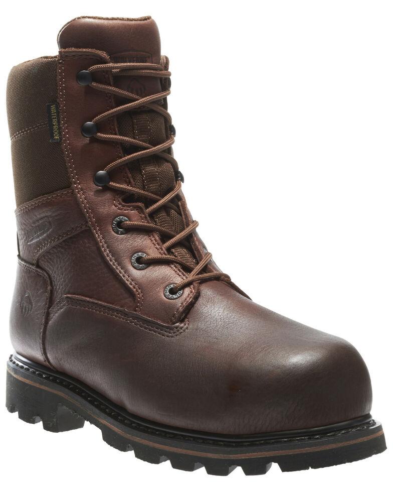 Wolverine Men's Novack Waterproof Composite Toe Work Boots, Brown, hi-res